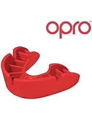 Protector bucal de Rugby OPRO Self-Fit GEN 3 Bronze - Protector bucal - Para baloncesto, hockey, artes marciales mixtas, lacrosse, fútbol americano, baloncesto y más - Fabricado en Reino Unido (Rojo)