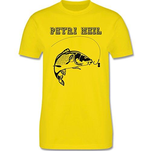 Angeln - Petri Heil - Herren Premium T-Shirt Lemon Gelb