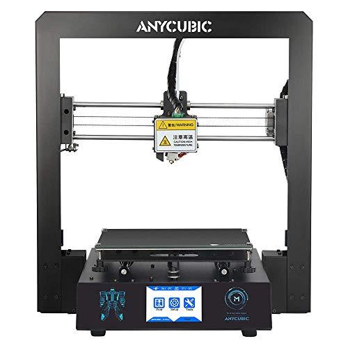 ANYCUBIC I3 Mega 3D Impresora Full Metal con patentada UltraBase y Pantalla táctil de 3,5 Pulgadas de Gran tamaño de impresión 210 x 210 x 205 mm, Funciona con PLA, ABS, Hips, Madera