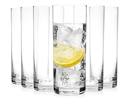 Bluespoon Trinkgläser Set 'Michelle' aus Kristallglas 6 teilig | Füllmenge 430 ml | Ideal auch als Cocktailglas geeignet | Top Qualität und Verarbeitung