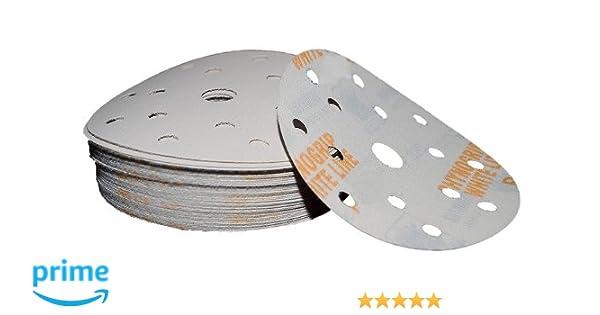 50 Blatt Exzenter Schleifscheiben 15 Loch P320 Klett Schleifpapier Lackpoint neu