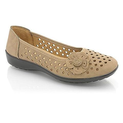 Perfect Me Chaussures à enfiler décontracté Femme-Ballerine Poupée-Ballerine un confort optimal en chaussures de pompes - Noir - Blue Bow Faux Leather,