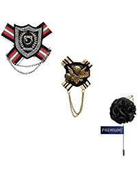 Elegant Formal Set Of Brooches/Lapel Pins For Men By Ambrosia(CH_Pin_23)