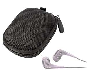 Housse de transport et rangement avec compartiment pour écouteurs SoundMagic E10 et ES20, Sony XBA-C10 et XBA 4iP, Klipsch Image X10i