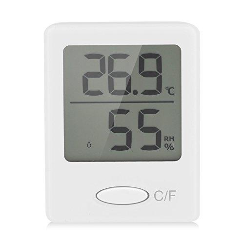 Igrometro digitale Termometro per interni Misuratore di umidità per ambienti domestici(Bianco)