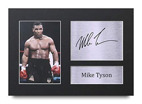 Mike Tyson Los Regalos Firmaron A4 Dedicatoria Impresa