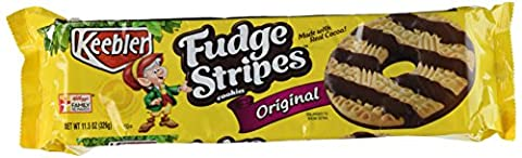 Fudge Shoppe Fudge Stripe Cookies, 11.5-Ounces Packages (Pack of 6)