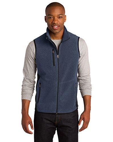 Port Authority® R-Tek® Pro Fleece Full-Zip Vest. F228 Navy Heather/ Black M