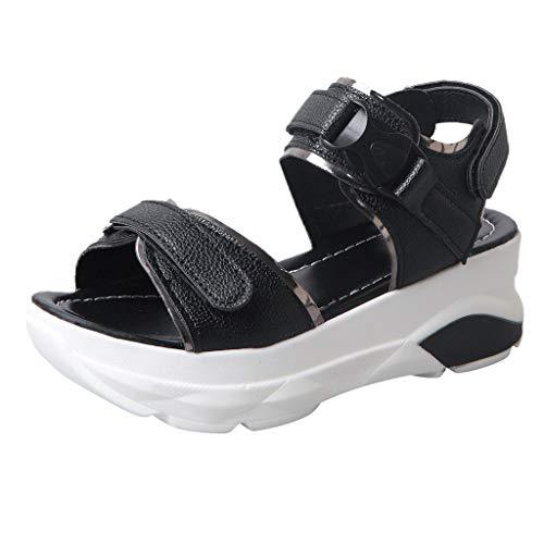 Innerternet Damen Keilabsatz Schuhe Mode Lässig Sommer Sport Sandalen Dicke Plattform Med Ferse Schuhe Freizeit Keilabsatz Schuhe Mode Lässig Sommer Sport Sandalen (Nike Sandalen Für Jungen 9)