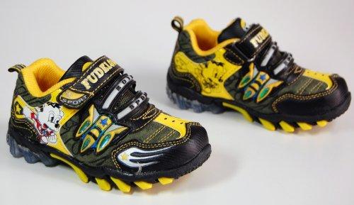 Kinder Schuhe Sport Schwarz Blau Rot Gelb Braun Halbschuhe Gelb