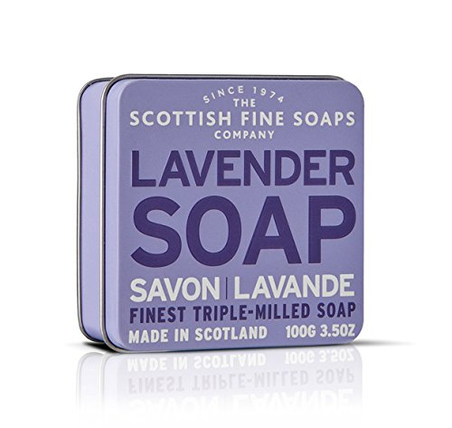 Scottish Fine Soaps Lavender Floral Soap Tin Soap 100 g -