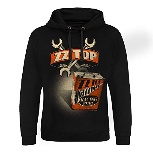 ZZ-Top Offizielles Lizenzprodukt High Octane Racing Fuel Epic Kapuzenpullover (Schwarz), X-Large -