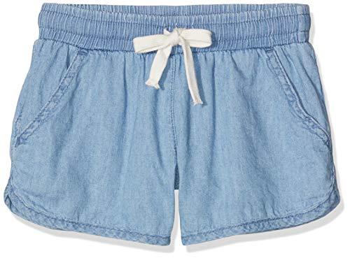United Colors of Benetton Mädchen Shorts, Blau (Blu Chiaro 902), One Size (Herstellergröße: Large) (Chambray Shorts Mädchen)