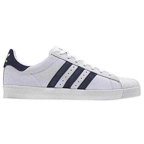 Herren 2 Adidas Superstar (Adidas - Superstar Vulc ADV - white/navy/white Gr.:US 10,5/EU 44 2/3, Skateboarding)