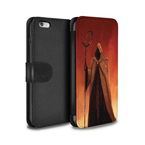 Offiziell Chris Cold PU-Leder Hülle/Case/Tasche/Cover für Apple iPhone 6+/Plus 5.5 / Pack 6pcs Muster / Dämonisches Tier Kollektion Gevatter Tod