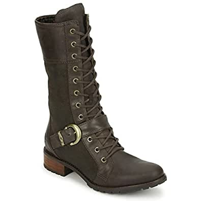 Timberland EK BTHL BCKL MID Dk Brown–Boots Military, Color Brown Green Size: 6.5