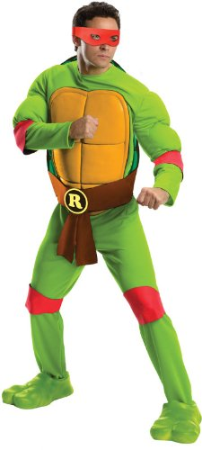 Turtles Raphael Deluxe Erwachsene Kostüm (Standard) (Teenage Mutant Ninja Turtles Raphael Jumpsuit)