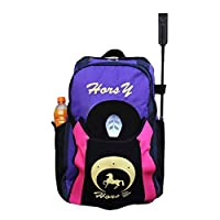 Sport Tent Professional Horse Riding Boot Bag Helmet Bag parent-child Equestrian Horse Riding Backpack with Hat compartment (adolescent, adult edition, Purple)