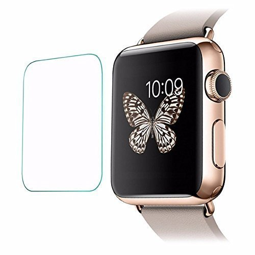 Apple Watch Series 1 / Series 2 - 38 MM :CASSIEY Amazing H+ PRO+ 0.3 mm 2.5D 9H Hardness Anti-Explosion Tempered Glass Samrt Watch Screen Protector For Apple Watch Series 1 / Series 2 - 38 MM- Retail Packaging - Transparent With all Finger Print Sensor , Light Sensor , Camera Cutting and Installation Kit with Advanced Dust Remover  available at amazon for Rs.199