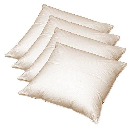 Juego de 4 cojines de plumas para sofá (40x40 cm)