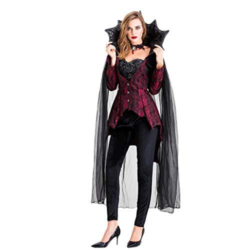 WSFS Frauen Halloween Vampir-Kostüm gemeine Königin-Abendkleid Cosplay Kostüme Masquerade Robe Outfits Partei Gothic (Masquerade Kostüm Plus Größe)