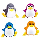 #8: Emob Cute Penguin Wind-up Wind-up Toys with Winding Chain and Moving Wheels Feature for Toddlers (Penguin)