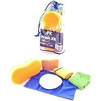 un11003–Kit lavaggio set di pulizia 6pezzi incl. Panni in microfibra e pelle auto