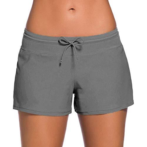 ➤Refill➤Badeshorts für Damen, Damen Badeshorts Kurze Badehose UV Schutz Shorts Strand Wassersport Boardshorts Schnell Trocknendes Schwimmhose Schwimmshorts