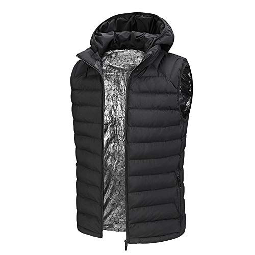 41ozOMb2iqL. SS500  - OUTANY Men's Rechargeable Heated Vest Windproof USB,Winter Outdoor Sport Warm Insulated Vest