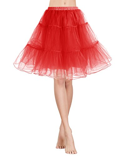 Gardenwed Tutu Damenrock Tüllrock 50S Retro Rockabilly kurz Petticoat Ballet Tanzkleid Unterkleid...