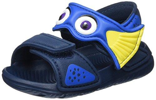 adidas Disney Akwah 9, Scarpe Primi Passi Unisex - Bimbi 0-24, Multicolore (Mineral Blue/Shock Blue/Bright Yellow), 22 EU