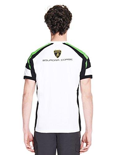 Automobili Lamborghini Herren T-Shirt Squadra Corse Lamborghini Weiß