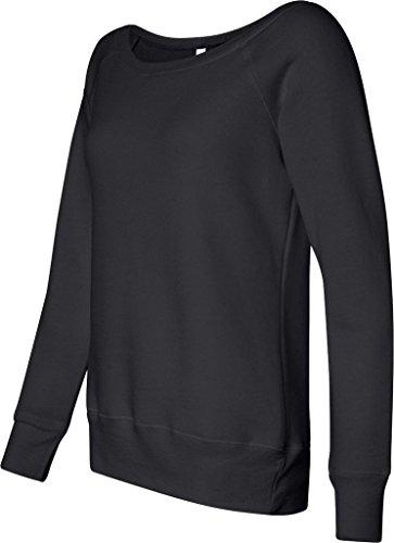 Bella+Canvas: Sponge Fleece Wideneck Sweatshirt 7501 Schwarz