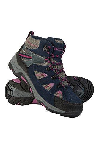 Mountain Warehouse Rapid Wasserfeste Stiefel für Damen - Wanderschuhe aus Wildleder und Netzstoff, Schuhe, Wanderstiefel mit Gummilaufsohle - Für Reisen, Camping Beerenton 39 EU