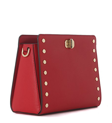 borsa messenger michael kors sylvie in pelle con borchie shopper handtaschen. Black Bedroom Furniture Sets. Home Design Ideas