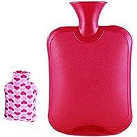 Safe Hot Therapies Warme Hände PVC-Wärmflasche mit abnehmbarem Bezug 2.0 Liter (Rot) preisvergleich bei billige-tabletten.eu