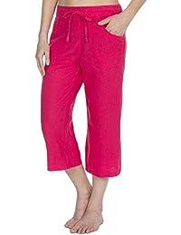 bd1fde6b74a Metzuyan Womens 3 4 Capri Pants Cropped Elasticated Trousers Sizes 10-14