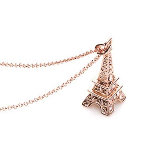 Chaomingzhen gioielli rhinestones torre eiffel collane con pendente donna catena 18 inch