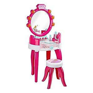Theo Klein- Barbie Salón De Belleza con Accesorios, Luz Y Sonido, Version Mesa, Juguete, (5391)