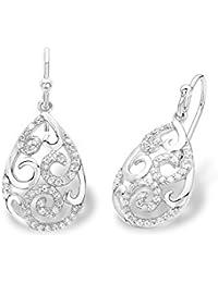 amor Damen-Ohrhänger 925 Silber rhodiniert Zirkonia weiß 3.5 cm - 2016290