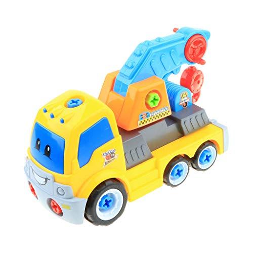 Tubayia DIY Montage Auto Fahrzeuge Modell 3D Bausteine Kinder Pädagogisches Spielzeug Lernspielzeug Geschenk (Trailer)