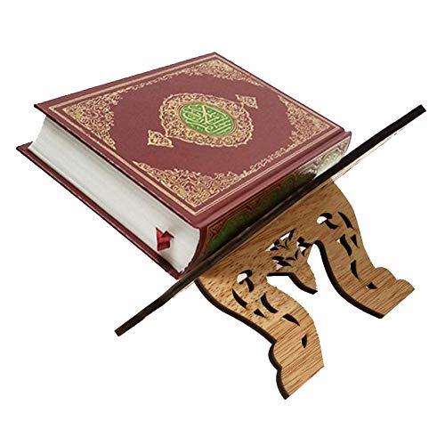 iShine Kuran Ständer Koran Bücherregal aus Holz Heilige Buch Ständer Eid al-Fitr für islamische Muslim-20cmx29cm