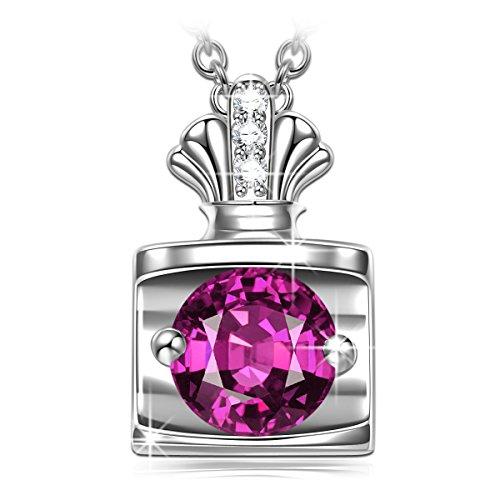 PRINCESS NINA valentinstag geschenk für sie für paare halskette damen halskette silber schmuck damen Swarovski Kristall halskette Geschenke zum valentinstag Mutter Frauen Mädchen Geburtstaggeschenk