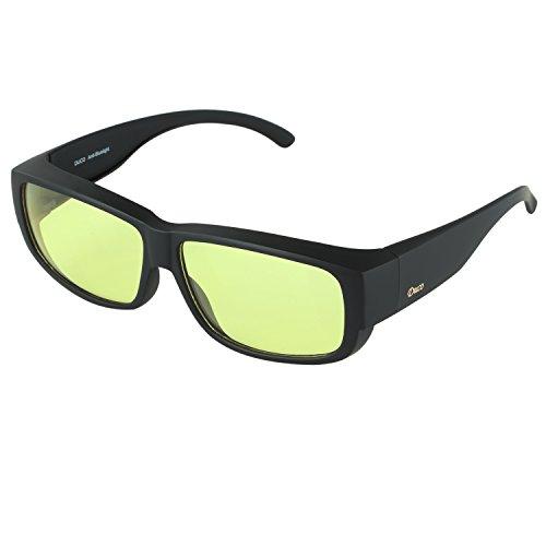e7b2430cfe Duco Blaufilterbrille Blaulicht und UV Schutzbrille Computerbrille Gaming  Brille Überziehbrille für Brillenträger Fit-over Brille