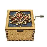 Youtoo Retro Holz Spieluhr Hand klassischen Handkurbel Musik Box für Geschenke (Happy birthday melody)