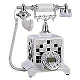 GIOW Klassische Dekoration Softphone Altes Telefon (Anruferkennung) Größe: 21x25x30cm A +