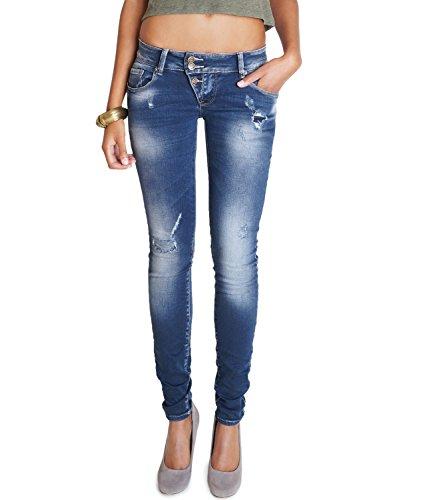 62nd Avenue Destroyed Skinny Damenjeans Slim Vintage M / 38 - Avenue Stretch-jeans