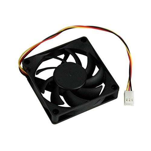 hunpta leise 7cm/70mm/70x 70x 15mm 12V Computer/PC/CPU Silent Cooling Gehäuselüfter schwarz