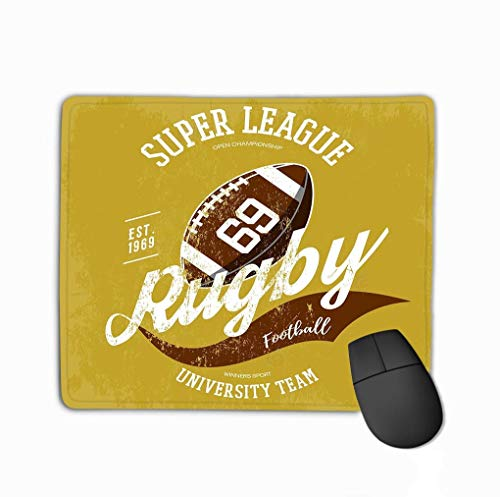 Mouse Pad Rugby Ball Logo Branding Design super League Banner Sportswear Gear Clothing uniform Cloth Rectangle Rubber Mousepad 11.81 X 9.84 Inch