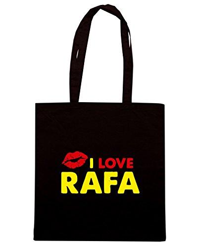 T-Shirtshock - Borsa Shopping TLOVE0125 rafa lips light Nero